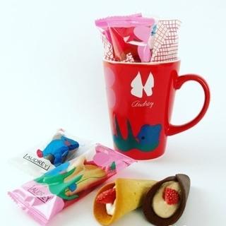 ★バレンタイン限定 大人気★オードリー 限定マグカップ グレイシアミルク&チョコ(菓子/デザート)