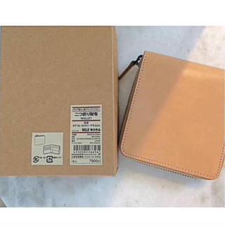 ムジルシリョウヒン(MUJI (無印良品))の新品未使用 無印良品イタリア産ヌメ革ラウンドファスナー二つ折り財布(折り財布)