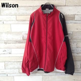 ウィルソン(wilson)のWilson ナイロンジャケット レッド×ブラック 神奈川サレジオ学院テニス L(ナイロンジャケット)