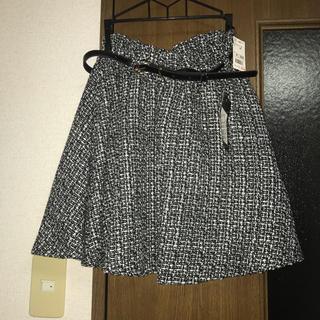 Avail - ミックスツイードスカート(ベルト付き)