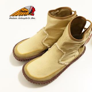 インディアン(Indian)の【INDIAN】ヘンプ ショート ブーツ 新品タグ付き(ブーツ)