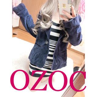 オゾック(OZOC)の1602.OZOC ベロア素材 テーラードジャケット(テーラードジャケット)