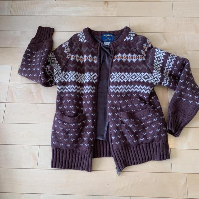 WOOLRICH(ウールリッチ)のWOOLRICH ニット ジャケット アウター ブラウン 柄 ウールリッチ メンズのジャケット/アウター(ブルゾン)の商品写真