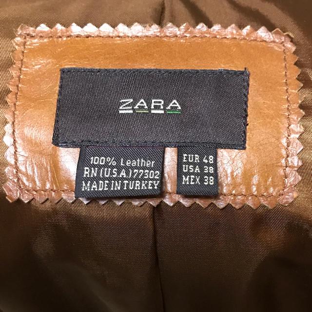 ZARA(ザラ)のZARA レザー ジャケット EURサイズ48 メンズのジャケット/アウター(レザージャケット)の商品写真
