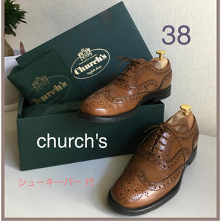 チャーチ(Church's)の最終❣️church's  チャーチ ウイングチップ バーウッド   38   (ローファー/革靴)