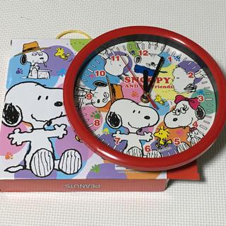 スヌーピー(SNOOPY)の新品スヌーピーカラフル掛け時計(掛時計/柱時計)