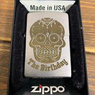 ジッポー(ZIPPO)のThe Birthday zippo スカルロゴ シルバー(ミュージシャン)