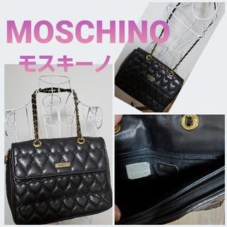 モスキーノ(MOSCHINO)のMOSCHINOモスキーノ❤️革チェーンハートキルティングバック(ショルダーバッグ)