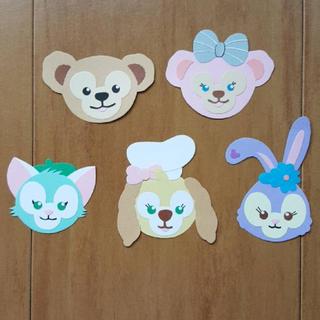 ディズニー(Disney)のアルバムクラフト☆ダッフィー フレンズ風☆ディズニー(型紙/パターン)