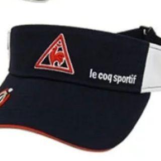 ルコックスポルティフ(le coq sportif)のルコックゴルフ サンバイザー ネイビー(その他)