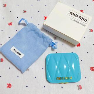 ミュウミュウ(miumiu)のmiumiu  ミュウミュウ香水 限定ノベルティミラー 新品(ミラー)