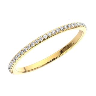 細身リング VVS ダイヤモンド フルエタニティ  K18 イエローゴールド(リング(指輪))