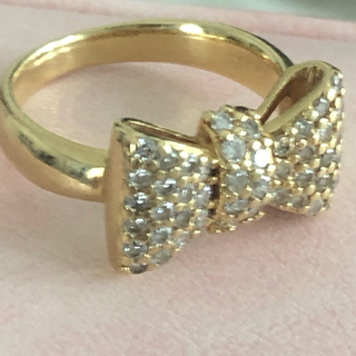 K18 パヴェダイヤリング(リング(指輪))