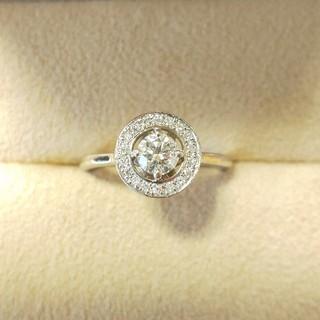 デビアス(DE BEERS)のフォーエバーマーク 保証書 カード完備 指輪 ダイヤモンドリング 0.26ct (リング(指輪))
