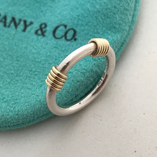 ティファニー(Tiffany & Co.)のTiffany バンドウィズ2ワイヤーリング 7号(リング(指輪))
