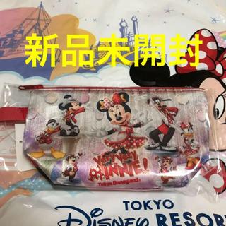 ディズニー(Disney)のおまけ付★新品未開封★ディズニーランド限定 ベリーベリーミニー スーベニアポーチ(キャラクターグッズ)