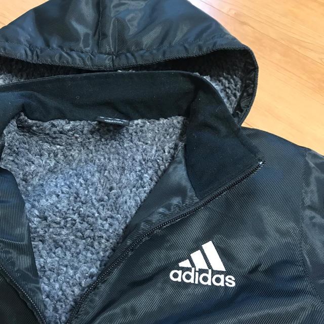 adidas(アディダス)のサッカーキッズアディダスベンチコート130 キッズ/ベビー/マタニティのキッズ服男の子用(90cm~)(コート)の商品写真