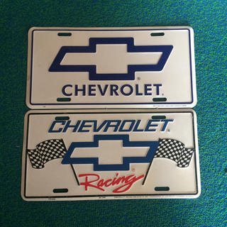 シボレー(Chevrolet)のシボレー ナンバープレート(車外アクセサリ)