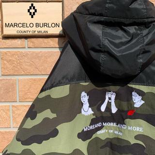 マルセロブロン(MARCELO BURLON)の【超激レア!!】マルセロブロン 中綿 ナイロンジャケット カモ  デカロゴ(ナイロンジャケット)