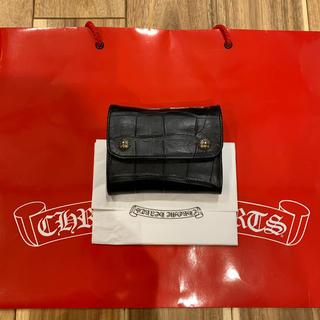 クロムハーツ(Chrome Hearts)のレア クロムハーツ アリゲーター WAVE MINI ミニ 財布 二つ折り(折り財布)