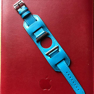 Apple watch 4 5 40㎜ アップルウォッチ レザーベルト(腕時計(デジタル))