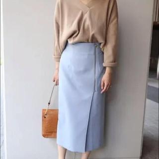 ノーブル(Noble)のNOBLE フロントジップタイトスカート (ひざ丈スカート)