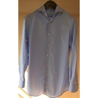 カミチャニスタ(CAMICIANISTA)のカミチャニスタ スリムフィットシャツ 39 ギンガムチェック(シャツ)