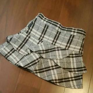 エニィファム(anyFAM)のany FAM スカート ラメツイード フリル フォーマル 入園式 100cm(スカート)