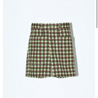 トーガ(TOGA)のCOTTON TWILL CHECK SHORT PANTS チェック パンツ(ショートパンツ)
