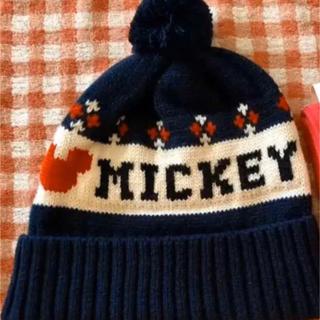 ミッキーマウス(ミッキーマウス)のミッキー新品ニット帽(ニット帽/ビーニー)