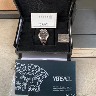 ヴェルサーチ(VERSACE)の正規品ヴェルサーチ メデューサ  ブラック&シルバー(腕時計(アナログ))