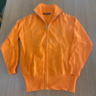 ビッキー(VICKY)のMAYSON GRMEY オレンジジップアップセーター(ニット/セーター)