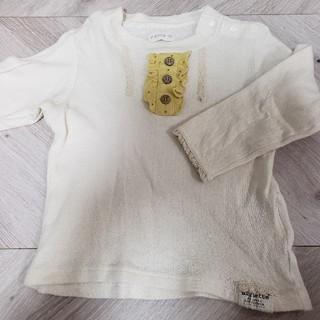 ビケット(Biquette)のビケット 長袖フリルトップス 95(Tシャツ/カットソー)