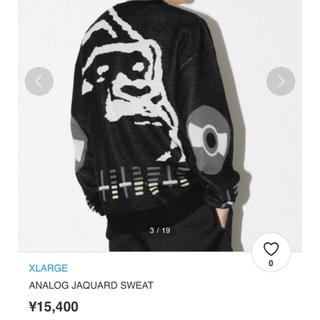 エクストララージ(XLARGE)のXLARGE ANALOG JAQUARD SWEAT 定価15400円(ニット/セーター)