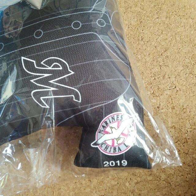 千葉ロッテマリーンズ(チバロッテマリーンズ)の新品未使用 ロッテマリーンズ ミニクッション 2019 スポーツ/アウトドアの野球(記念品/関連グッズ)の商品写真