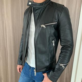 エイケイエム(AKM)のAKM 馬革ライダースジャケット(ライダースジャケット)