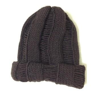 トゥモローランド(TOMORROWLAND)のイタリア製 ニット帽 ワッチキャップ (ニット帽/ビーニー)