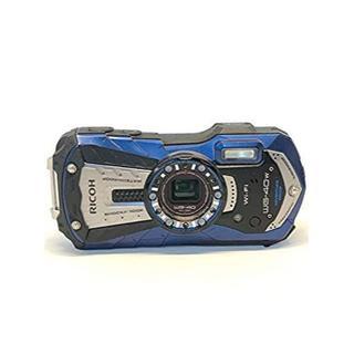 リコー(RICOH)の RICOH 防水デジタルカメラ RICOH WG-40W ブルー 防水14m耐(コンパクトデジタルカメラ)