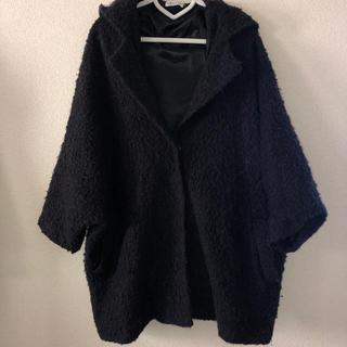 LEPSIM - LEPSIM もこもこコート ブラック フード付 ジャケット アウター