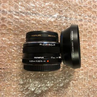 オリンパス(OLYMPUS)のM.ZUIKO 17mm f1.8 (Black) + LH-48B(レンズ(単焦点))