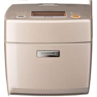 ミツビシデンキ(三菱電機)の三菱 非圧力IHジャー炊飯器(5.5合炊き) 炭炊釜 フローラルゴールド(炊飯器)