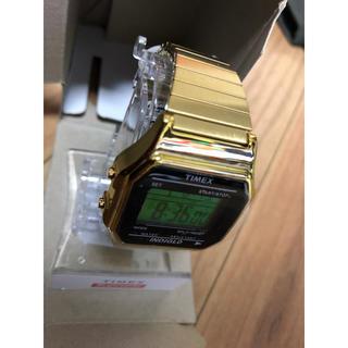 supreme timex digital watch gold ゴールド