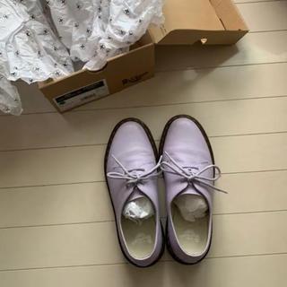 ドクターマーチン(Dr.Martens)のドクターマーチン  3ホール パープル 薄紫(ローファー/革靴)
