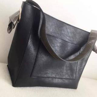 レプシィム(LEPSIM)の新品 レプシィム レディース  ハンドバッグ  通勤バッグ ブラック グレー(ハンドバッグ)