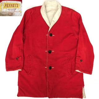 50s PENNY'S 赤 コーデュロイ リバーシブル ジャケット コート(ブルゾン)