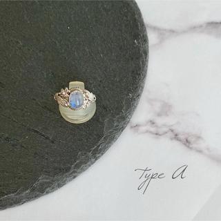 天然石*ブルームーンストーンシルバーリング(リング(指輪))