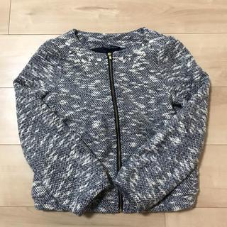 GU - GU ビジュー付きジャケット 140 女の子 ボレロ 紺NV