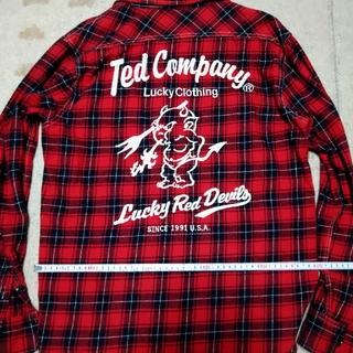 テッドマン(TEDMAN)のテッドマン ネルシャツ 赤×黒(Tシャツ/カットソー(七分/長袖))