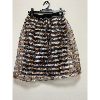 レプシィム(LEPSIM)のLEPSIM  スカート 花柄(ひざ丈スカート)