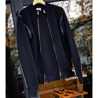 ALLEGE - ALLEGE Double Zip Rib Knit ジップニット黒 black